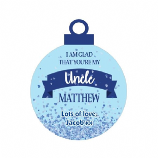 I'm glad that you're my ... Blue Acrylic Christmas Ornament Decoration
